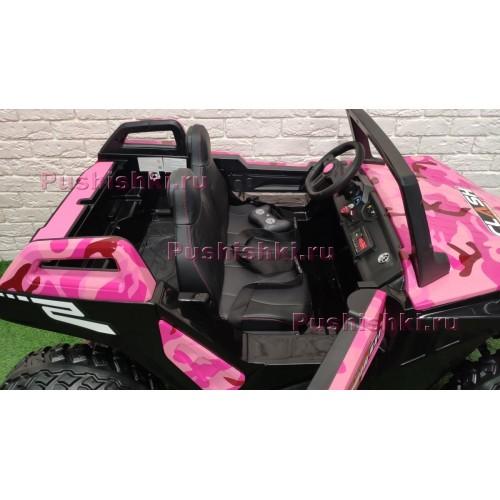 Детский электромобиль RiverToys BAGGY A707AA 4WD камуфляж с дистанционным управлением