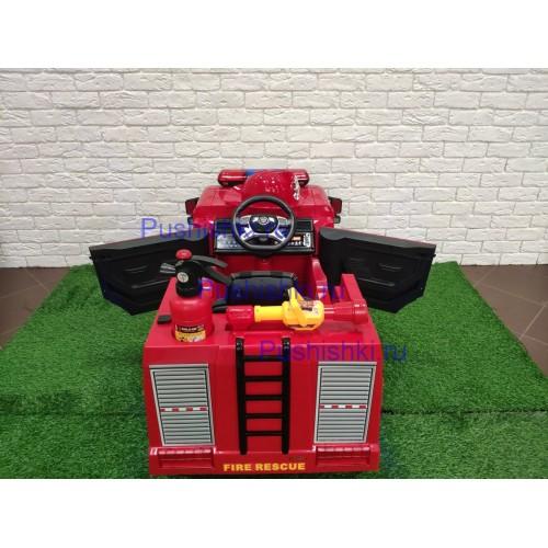 Детский пожарный электромобиль RiverToys A222AA  с дистанционным управлением