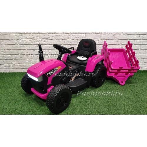 Детский электромобиль трактор с прицепом H888HH